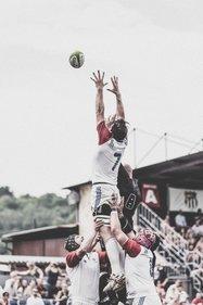 Rugby Player Jumping