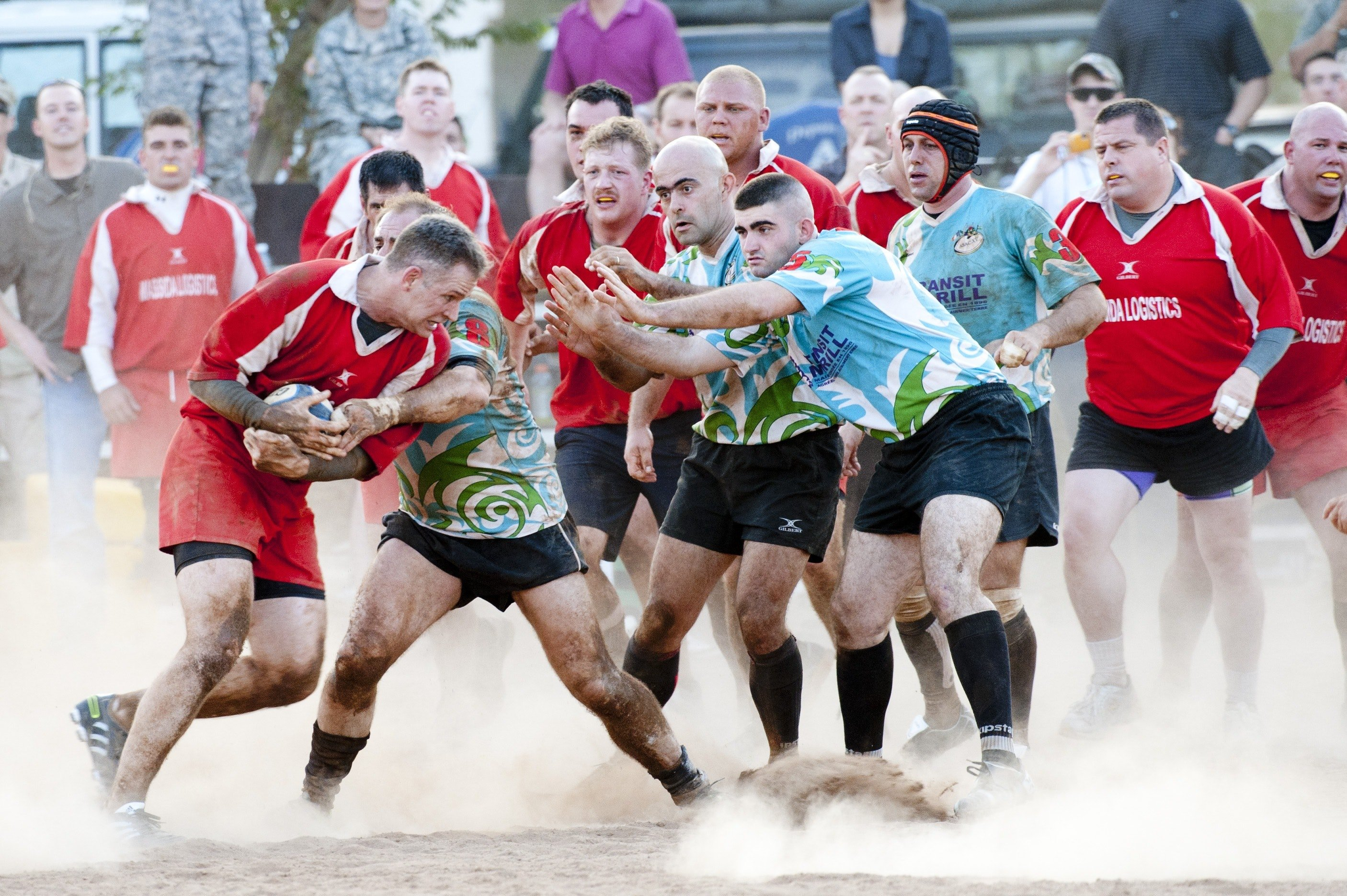 Rugby Players Playing