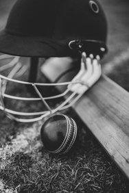 Cricket Hat and Ball